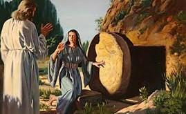 Jesus at open tomb