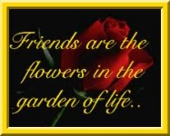 real friends are flowers