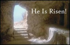 cross he is risen