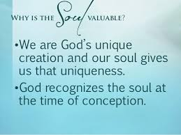 god creates soul