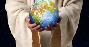 jesus holding globe L