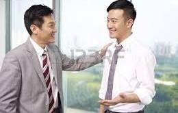 asian boss and employee