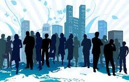 business skyline w people