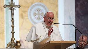 francis speaks at mass