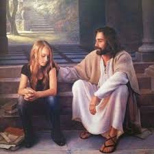 girl talking with jesus