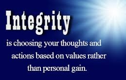 integrity is values