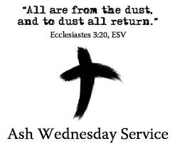 ash wednesday dust to dust