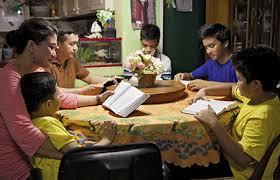 family at prayer