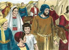 holy family going to jerusalem