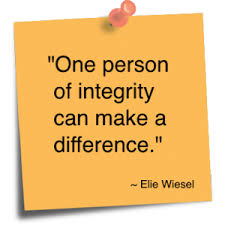integrity one person