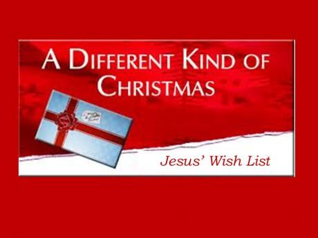 Jesus Wish List
